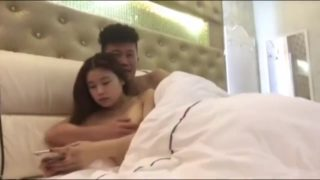 Younger Japanese Duo In Motel