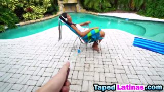 Victoria Valencia Rails Penis By Way Of The Pool
