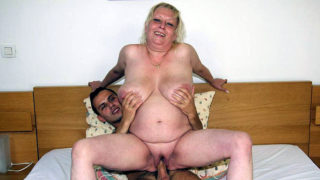 Obese Elder Fuckslut Engulfs Hard-on