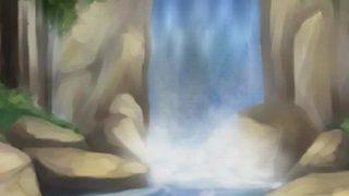 Steamy Dark Haired Manga Porn Queer Unsheathing His Beautiful Figure In Waterfall