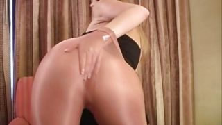 Tammy's Taunting In Glossy Stockings