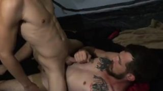 Familydick-elderly Father Romps Tiny Stud On Tenting Journey