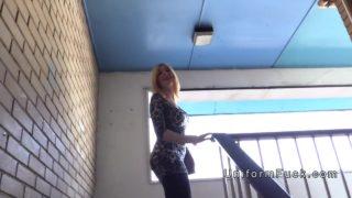 Impolite Blondie Stunner Porks Faux Cop