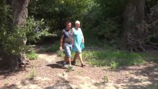 Naked Daring Naturist Grannie And Younger Manmeat Devotee