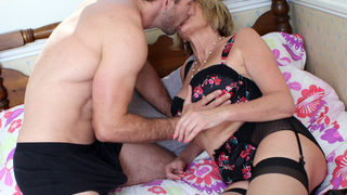 Lusty Big-boobed Mature Humps A Youthful Guy