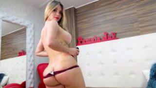 Ginormous Jugs Sexbomb Pamelajay Pleasuring Her Handsome Gash