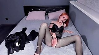 Ultra-kinky Gothic Stunner In Fishnet Pantyhose